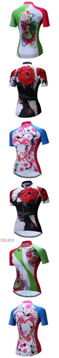 TELEYI Kaitlyn 100% Polyester Breathable MTB Bike Clothing Women Bicycle Clothes Ropa Ciclismo Cycling Wear Cycling Jersey