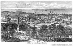 Illustration showing Dublin, both the largest city and the capital of Ireland. It is located near the midpoint of Ireland's east coast, at the mouth of the River Liffey Old Pictures, Old Photos, Irish Independence, Old Photographs, Old Books, Dublin Ireland, Folklore, East Coast, Phoenix