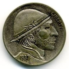 Steve Ellsworth - MarcoMontañas Hobo Nickel, Buffalo, Classic Style, Coins, Carving, Personalized Items, Rooms, Wood Carvings, Sculptures
