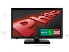 """TV LED 20"""" Philco PH20U21D - Conversor Digital 2 HDMI 1 USB com as melhores condições você encontra no Magazine 233435antonio. Confira!"""