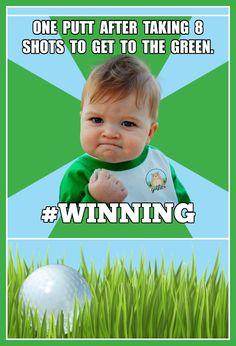 Golf  winning!  #golf #humor #golftalk #golfcourse #funny #golfing #wisdom #golf #truth #lol