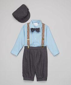 Loving this Blue Button-Up Set - Infant & Toddler on #zulily! #zulilyfinds