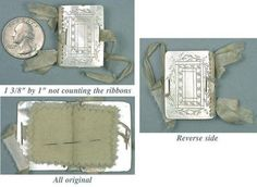 Tiny Antique Child's Mother of Pearl Needle Book English Circa 1860   eBay