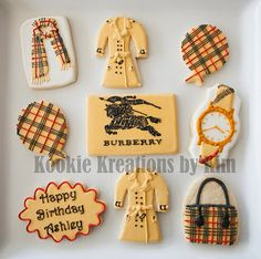 Burberry cookies - Kookie Kreations by Kim