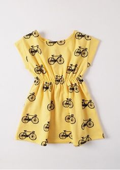 Little girl's bicycle dress