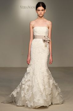 My favorit to far! Must try on Vera! Vera Wang Bridal Collection -- beautiful lace and very flattering shape