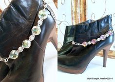 BOLD COWGIRL Reversable Pink Green Boot Jewelry by BoldCowgirl, $29.00