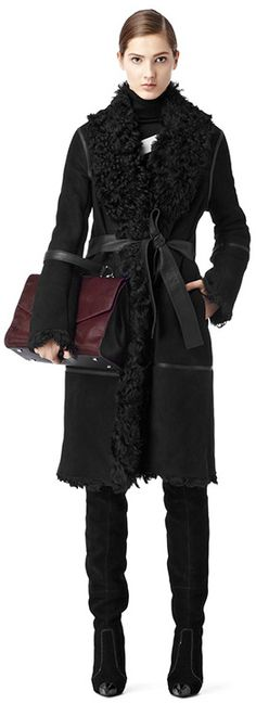 Colberg Sheepskin Coat in Black