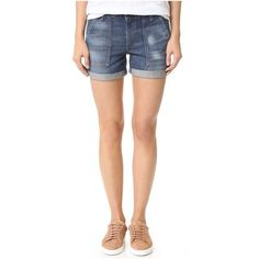 Rag & Bone/JEAN Carpenter Shorts ($200) ❤ liked on Polyvore featuring shorts, langley, zipper shorts and carpenter shorts