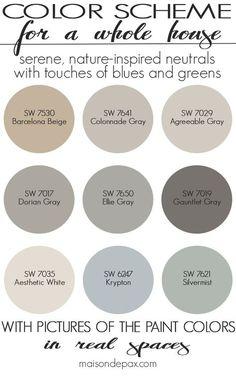6 Fabulous Cool Ideas: Natural Home Decor Rustic Master Bath natural home decor earth tones brown.Natural Home Decor Ideas Air Freshener natural home decor earth tones design seeds.Natural Home Decor Rustic Lamps. Farmhouse Paint Colors, Paint Colors For Home, Paint Colours, Neutral Colors, Natural Paint Colors, Lowes Paint Colors, Living Room Paint Colors, Neutral Bathroom Colors, Rustic Paint Colors