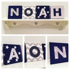Our personalised mini canvases can be made in any fabric/colour combination. Great decor for nursery, bedroom or playroom.