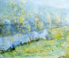 Mai Morn, huile sur toile de John Henry Twachtman (1853-1902, United States)
