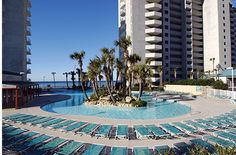 The Lagoon Pool at Long Beach Resort in Panama City Beach FL - my favorite place to get away for a few days!