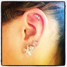 Feather cartilage piercing