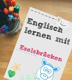learning strategies (elaboration): Eselsbrücken zum Englisch lernen - Kaplan In. English Vocabulary, English Grammar, Teaching English, English Language, English Idioms, Primary Education, Primary School, English Lessons, Learn English
