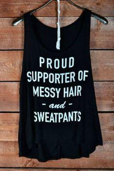 PROUD SUPPORTER MESSY HAIR SWEATPANTS Tank Top  - Shop Simply Me Boutique – www.SHOPSIMPLYME.com #shopsimply