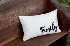Family Pillow - Farmhouse style collection- Home Decor- by reprizedesigns on Etsy