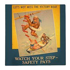 Binder - Vintage Office Decor  Vintage binder. Delightful vintage illustration of a animal sailors. The monkey is climbing into the...