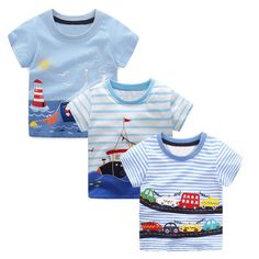 7079a7ab0 3PCS Boys Summer Tops Tee Shirts Fille Kids Clothes 2018 Brand Children T  shirts for Boys Clothing Animal Pattern Baby T-shirt