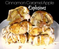 Cinnamon Caramel Apple Explosions Love it? Pin it to SAVE it! Follow Spend With Pennies on Pinterest for more great recipes! Ok, if you'd followed my blog for any amount of time, you probably know how much I LOVE recipes where I get to fill things with...