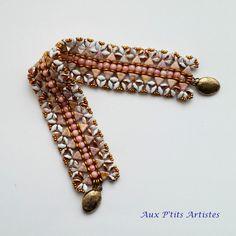 """bracelet """"Kheopatra """" blanc et Rose Gold Ceramic Look de la boutique AuxPetitsArtistes2 sur Etsy"""