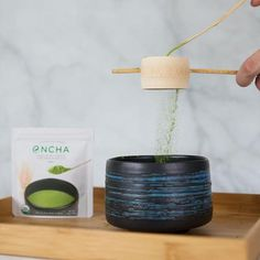 I feel compelled to make a bamboo matcha powder sifter to align with the tradition of hand-crafted bamboo ware in tea ceremony. Matcha Whisk, Matcha Bowl, Organic Matcha, Tea Ceremony, Latte, Bamboo, Powder, Handle, Coffee