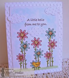 Great Impressions, Leah Cornelius, Growing Tall, Chick, A Little Hello, friendship card