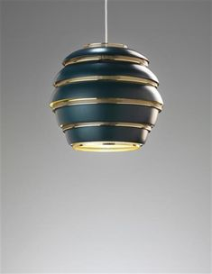 A Black & Brass Variation of Alvar Aalto's Beehive Lamp