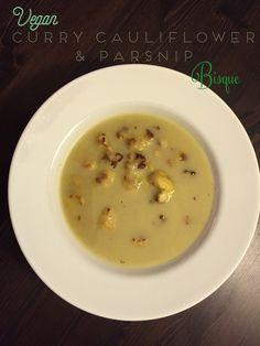 Vegan and Gluten Free Curry Cauliflower Parsnip Bisque Recipe