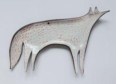 Fox spoon rest - ceramic spoon rest, red fox, fox plate, trinket dish
