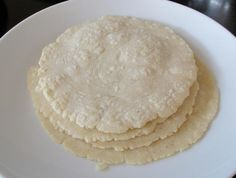 Paleo tortillas with coconut flour and egg whites