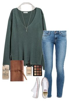 """""""pray for texas"""" by gabyleoni on Polyvore featuring H&M, Paige Denim, Converse, Casetify, Minor Obsessions, Morphe and Bobbi Brown Cosmetics"""