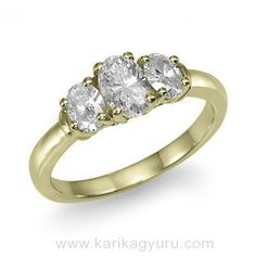 My dream ring has 3 oval cut diamonds in yellow gold. Dream Ring, Diamond Cuts, Engagement Rings, Pretty, Gold, Diamonds, Jewelry, Yellow, Enagement Rings