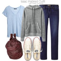 """""""Isaac Inspired Outfit with White Converse"""" by veterization on Polyvore"""