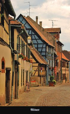 Bergheim, France, One of oldest villages in Alsace. Witch trial history