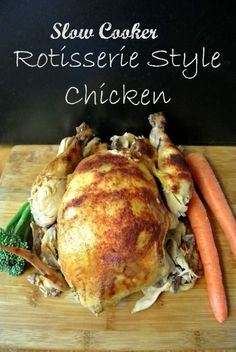 This moist, plump, savory Slow Cooker Rotisserie Style Chicken is fall-off-the-bone better than the supermarket and healthier for you too. Enjoy this on Phase 3, and you can remove the skin from the leftover chicken breast for Phases 1 and 2.