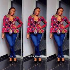 Ankara tops generally are every woman's desire as it helps to enhance the natural figure. It fits all body sizes extremely well, and its Ankara styles are outstanding and spectacular. Ankara Tops, Styles Ankara, Ankara Designs, Ankara Blouse, African Inspired Fashion, African Print Fashion, Africa Fashion, Fashion Prints, African Print Dresses