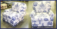 Selections Chair in Oceana//Indigo -- From Calico Corners.  Love these!!!!