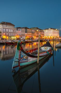 The Moliceiro boat - Aveiro-Portugal- by Hugo Carvoeira on 500px Like &…