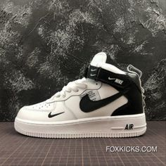 Nike Air Force One Mid Utility Mid Top Casual Sneaker Size Online Sneakers Fashion Outfits, Casual Sneakers, Sneakers Nike, Lacoste Sneakers, Nike Trainers, Girls Sneakers, Fashion Shoes, Nike Air Shoes, Slippers