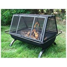 Sunnydaze Northland Grill Fire Pit (00819804010357) With a cooking grate to make hamburgers, chicken wings or hotdogs you will be the hero in your social gatherings. Use this fire pit grill in your backyard, patio or deck or take camping.