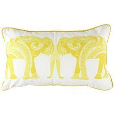 Sunshine Mirrored Elephant Cushion Cover - Saffron Blue - Saffron Blue