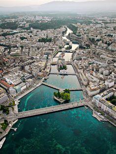 Geneva Switzerland More… Places Around The World, Oh The Places You'll Go, Travel Around The World, Places To Travel, Places To Visit, Around The Worlds, Geneva Switzerland, Beaux Villages, Belle Villa