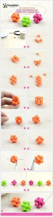 Jewelry Making Tutorial--DIY Lovely Necklace with 3 Beaded Balls | PandaHall Beads Jewelry Blog