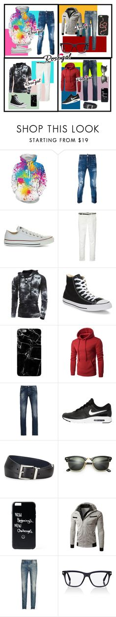 """""""Rose-Gal Contest"""" by a-person-on-ployvore ❤ liked on Polyvore featuring Dsquared2, Converse, Maison Scotch, Harper & Blake, Armani Jeans, NIKE, Prada, Ray-Ban, Maison Margiela and Tom Ford"""