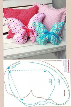 Butterfly Cushions. Free pattern.                              …