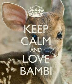KEEP CALM AND LOVE BAMBI
