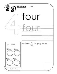 tracing numbers 9 and 0 worksheet | kindergarten math ideas ...