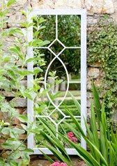 Shabby Chic Tall Metal Rectangular Garden Mirror
