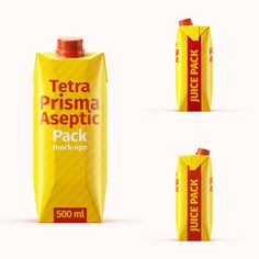 Tetra Pak. Prisma Pack (500 ml) Mockup Set Color Photoshop, Tetra Pak, Light Colors, Mockup, Color Change, Presentation, Packing, Bag Packaging, Bright Colours